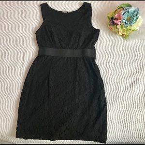 Black lace detail fancy dress